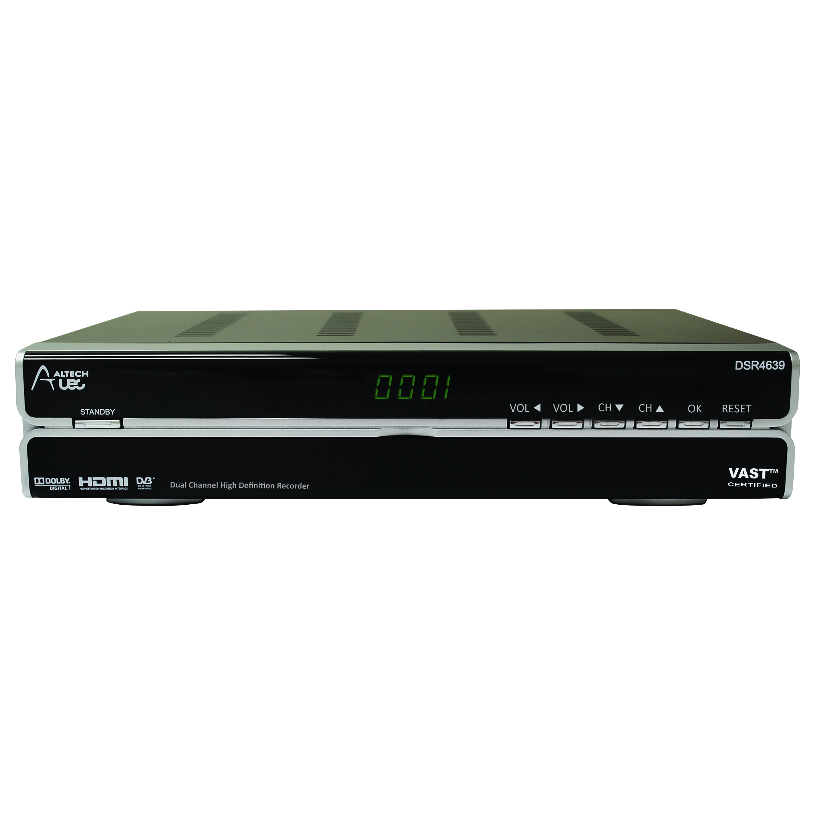 33MM-DCR-UEC - VAST Certified HD Dual Channel Recorder