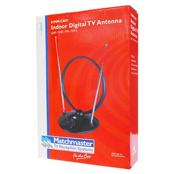 01MM-CA01 - Indoor Digital TV Antenna VHF/UHF (6-12)(28-51) Packaging Image