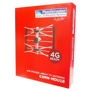 02MM-MDU18 - Digital TV Antenna UHF (28-51) 18 Elements Packaging Image
