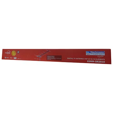 03MM-DR3010 - Digital TV Antenna VHF (6-12) 10 Elements Packaging Image