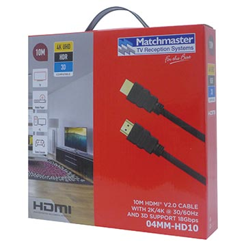 04MM-HD10 - 10M HDMI® V2.0 Cable with 2K/4K @ 30/60Hz and 3D Support 18Gbps Packaging Image
