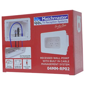 04MM-RP02 - Recessed Wall Point with Built in Cable Management System Packaging Image