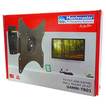 """04MM-TB01 - TV Tilt and Swivel Wall Mount 23-42"""" Packaging Image"""