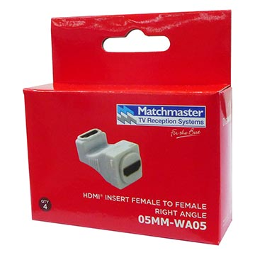 05MM-WA05 - HDMI® To HDMI® Female Right Angle Insert (4 Pack) Packaging Image