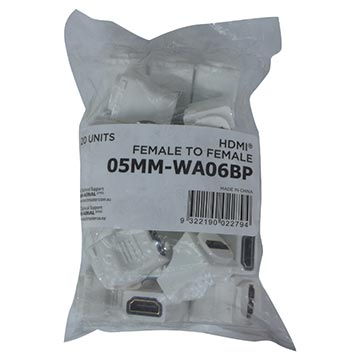05MM-WA06BP - HDMI® To HDMI® Female Inserts (20 Pack) Packaging Image