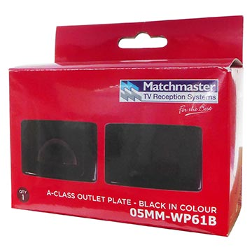 05MM-WP61B - Large Bullnose Outlet Plate (Black) Packaging Image
