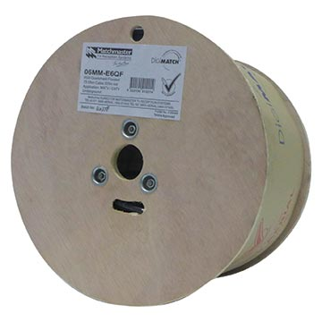 06MM-E6QF - 305m RG6 Flooded Quad-shield Cable Reel Packaging Image