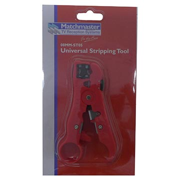 08MM-ST05 - Stripping Tool For RG59, RG6, RG11 and CAT 5 Packaging Image