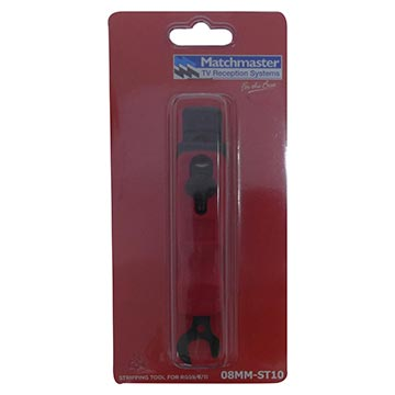 08MM-ST10 - Stripping Tool For RG59, RG6 And RG11 Including Spanner Packaging Image