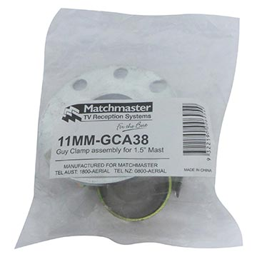 "11MM-GCA38 - Guy Clamp Assembly For 1.5"" (3.81cm) Mast Packaging Image"