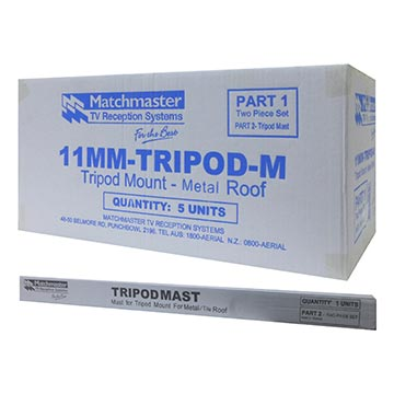 11MM-TRIPOD-M - Tripod Mount For Metal Roofs (5 Pack) Packaging Image