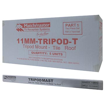 11MM-TRIPOD-T - Tripod Mount For Tile Roofs (5 Pack) Packaging Image