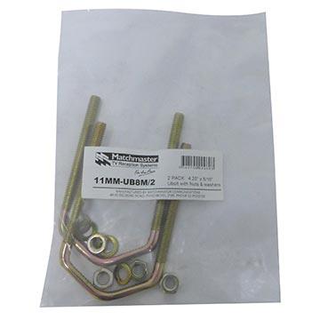 "11MM-UB8M/2 - U-Bolt (4.25"" x 5/16"") (2 Pack) Packaging Image"