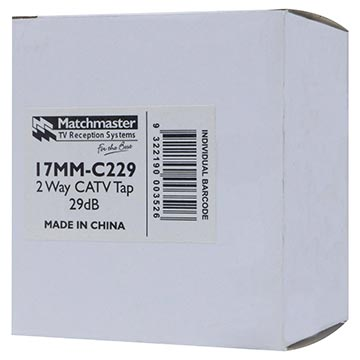 17MM-C229 - 2 Way CATV Tap 29dB 1GHz Packaging Image
