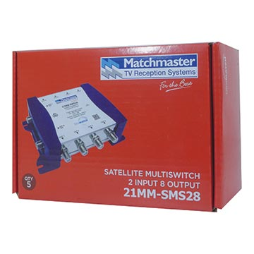 21MM-SMS28 - 2 Wire Satellite Multiswitch 2 In 8 Out Packaging Image