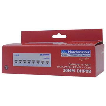 30MM-DHP08 - 8 Port Patch Panel for DigiHUB (CAT6) Packaging Image