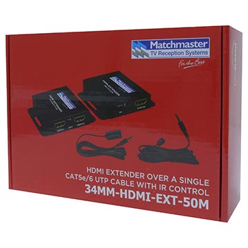 34MM-HDMI-EXT-50M - HDMI Extender Over Single UTP Cables with IR Control Packaging Image