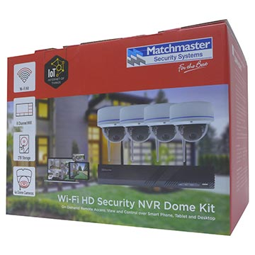 50MM-KD002 - Wi-Fi Security 8CH NVR Kit with 2TB HDD, 4x 2MP Dome Packaging Image