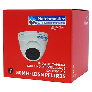 50MM-LD5MPFLIR35 - 4/5MP HD Dome IP Camera LAN POE IP66 3.6mm Lens 2592x1944 Res Packaging Image