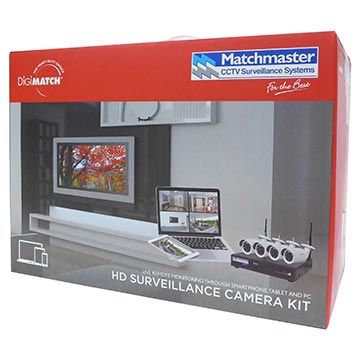 50MM-LN8CH2TB4B - LAN (POE) CCTV Security Kit 2TB Storage with 4x 4MP Bullet Cameras Packaging Image