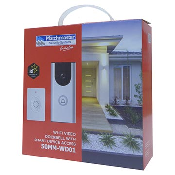 50MM-WD01 - Wi-Fi Video Doorbell with Smart Device Access Packaging Image