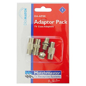DA-AP06 - 5 Piece TV Connector and Adaptor Pack Packaging Image