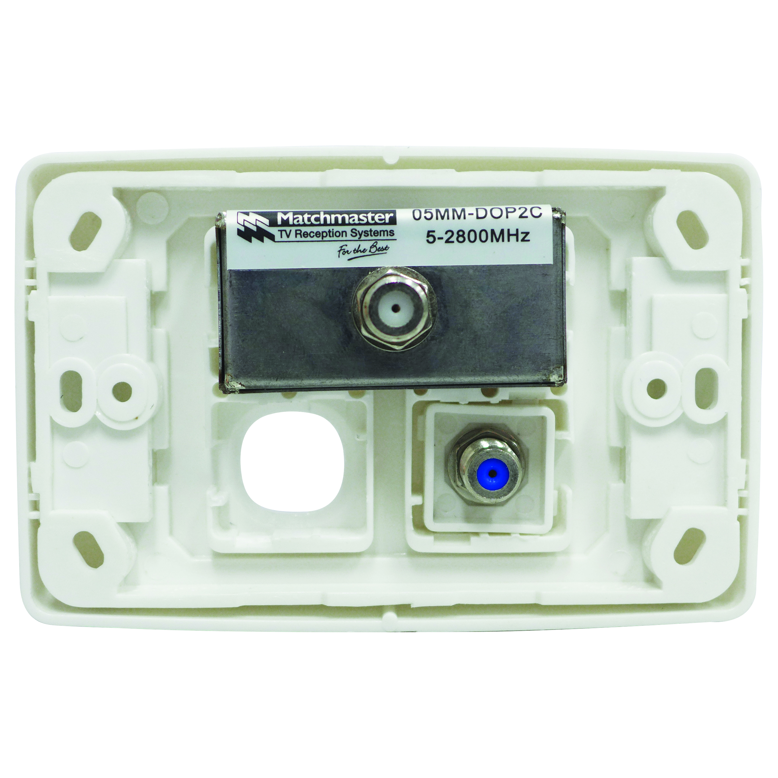 05MM-WP04 - SAT / FTA / PDR Outlet Plate (Foxtel Approved) Back of Product Image