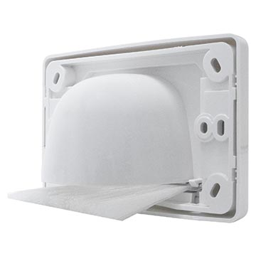05MM-WP65 - Outlet Plate with Reverse Bull Nose Back of Product Image