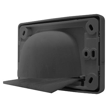 05MM-WP65B - Outlet Plate with Reverse Bull Nose (Black) Back of Product Image