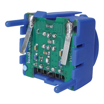 14MM-XM51B - WISI 2 Way Plug-In Splitter Module for VX29B Amplifier - 4dB Back of Product Image