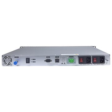 20MM-LT10L - Fibre Transmitter 1550nm +10dBm 1RU 45-2600MHz with  Dual Power Supplies Back of Product Image
