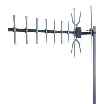 02MM-GX400PS - Digital TV Antenna with 4G/5G Filter and Snap Lock Corner Screen UHF (28-51) 10 Elements (5 Pack) Vertical Polarisation Image