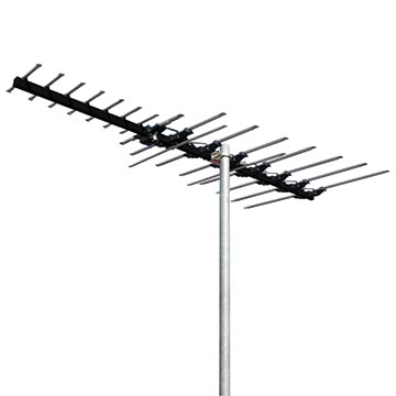 01MM-MB400 - MAGNA Black High Gain 17 Element Hybrid Digital TV Antenna VHF/UHF (6-12)(28-40) with 50dB 4G/5G Filter