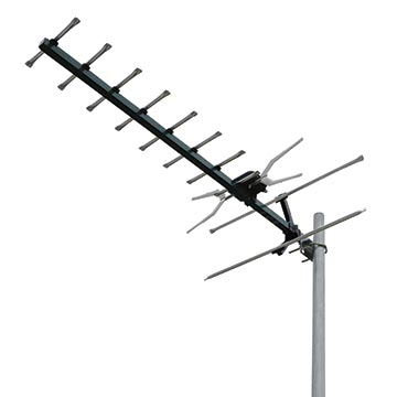 02MM-GX400PS - Digital TV Antenna with 4G/5G Filter and Snap Lock Corner Screen UHF (28-51) 10 Elements (5 Pack)