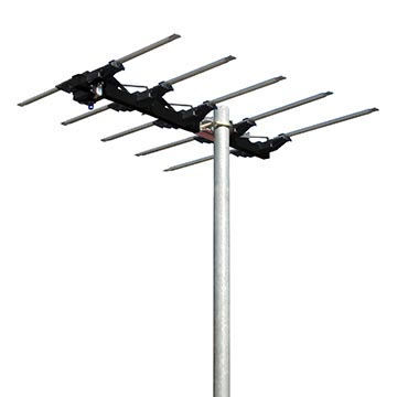03MM-MB100 - Magna Black High Gain 5 Element Log Periodic Digital TV Antenna VHF Ch(6-12) with 50dB 4G/5G Filter