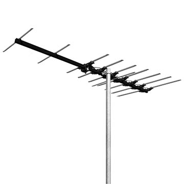 03MM-MB300 - MAGNA Black High Gain 10 Element Hybrid Digital TV Antenna VHF (6-12) with 50dB 4G/5G Filter