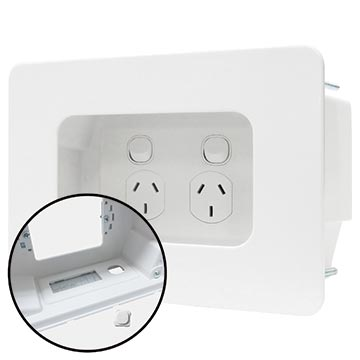 04MM-RP02 - Recessed Wall Point with Built in Cable Management System