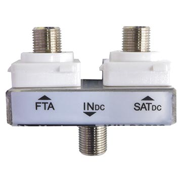 05MM-DOP2HCSL - Diplexer FTA/SAT (Suitable for most Clipsal and HPM wall plates)