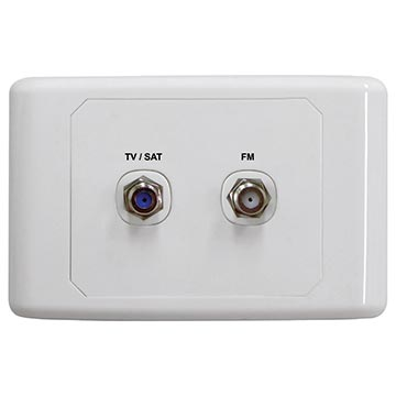 05MM-WP05 - SAT / TV Outlet Plate With FM Power Pass