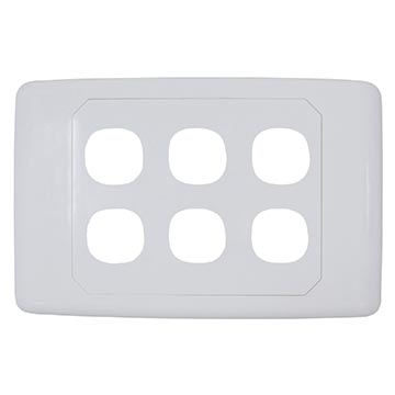05MM-WP56 - 6 Way Outlet Plate Including 5 Blank Inserts