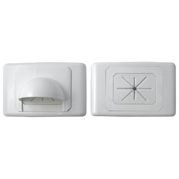 05MM-WP61 - Large Bullnose Outlet Plate (White)
