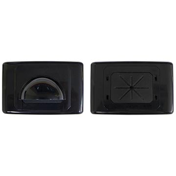 05MM-WP61B - Large Bullnose Outlet Plate (Black)