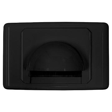 05MM-WP63B - Outlet Plate Bull Nose with Brush Cover (Black)