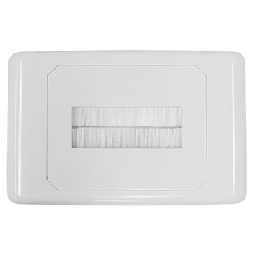 05MM-WP64 - Outlet Plate with Brush Cover