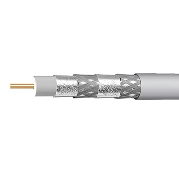 06MM-E6QWH - RG6 Quad-shield Cable White 305M Reel