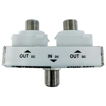07MM-SP52 - 2 Way Wall Plate Splitter DC Only Power Pass