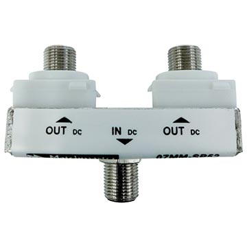 07MM-SP52C - 2 Way Wall Plate Splitter DC Only Power Pass (Suits Matchmaster And Clipsal 2000 Series)