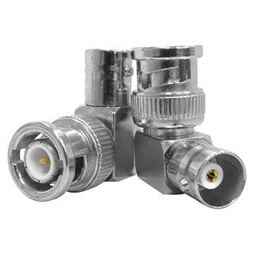 08MM-B13 - Right Angle BNC Male to BNC Female Adaptor