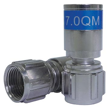 08MM-QM06S - Connector Compression Quick Mount Short with