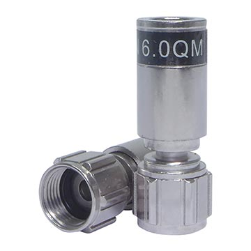 08MM-QM59 - Connector RG59 Universal Compression Quick Mount (100 Pack)